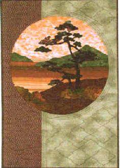 Windswept Tree Quilt Pattern   Helene Knott Oriental Quilt Pattern   StoryQuilts Patterns