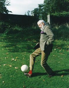 Perry Ogden.  The celebrated author J. P. Donleavy, at his home in Ireland, from a series of Irish portraits made for Luomo Vogue.