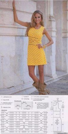 Летнее солнечное платьице с ажурной планкой на талии