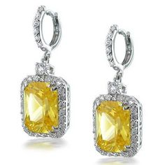 Bling Jewelry Yellow Simulated Citrine CZ Emerald Cut Earrings Silver Plated Bling Jewelry http://www.amazon.com/dp/B0043B4NVY/ref=cm_sw_r_pi_dp_HFL4wb1E8PFCQ