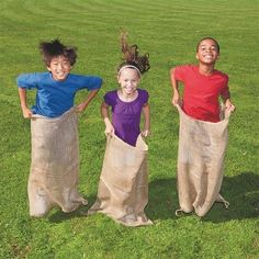 "OurWarm Gym And Outdoor Games Hopping Jumping Games Potato Sacks Burlap Potato Sacks - 19.5"" X 31.5"" Burlap Potato Sack ,Set of 1…"