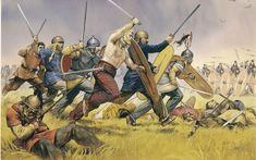 The Germanic Suebi Tribe attacking Roman legions