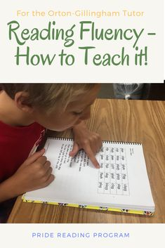 Reading Fluency - How to Teach it.  Here are some strategies and tips that will help you teach your child reading fluency.  #reading #fluency   via @pridereading