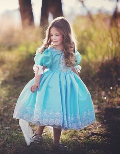 She is going to love this Beautiful Girls Tea Length Blue Pageant Dress!Gorgeous girls pageant dress has been showered with utmost attention to detail. Cute Flower Girl Dresses, Little Girl Dresses, Cute Dresses, Flower Girls, Beautiful Dresses, Fairytale Gown, Baby Dress Patterns, Girls Pageant Dresses, Taffeta Dress