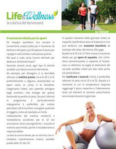 Life&Wellness #12: Il momento ideale per lo sport