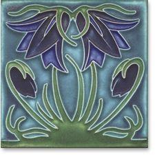 Alphonse Mucha Ladybell tile - Violet