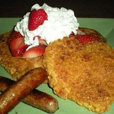 Captain's Crunch French Toast ...I made this last year and the boys loved it!! They also serve this @ The Blue Moon Cafe in Baltimore