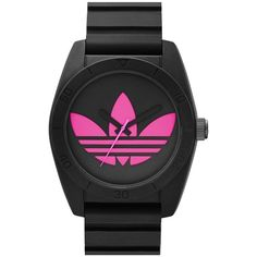 adidas Originals 'Santiago' Silicone Strap Watch, 42mm ($69) ❤ liked on Polyvore featuring jewelry, watches, accessories, adidas, logo watches, retro jewelry, retro watches, silicone strap watches and adidas originals watches