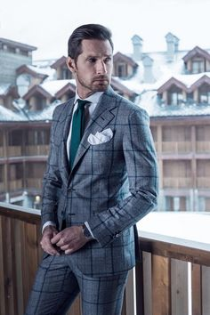 Gentleman in gray suit Style Gentleman, Dapper Gentleman, Dapper Men, Windowpane Suit, Plaid Suit, Sharp Dressed Man, Well Dressed Men, Mens Fashion Suits, Mens Suits