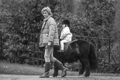 Taking Prince Harry for a ride on his pony in Sandringham, United Kingdom.   - HouseBeautiful.com
