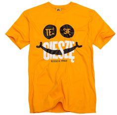 Koszulka Też Się Cieszę żółta