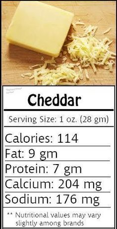 how many calories does cheese have