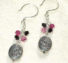 japanese cherry blossom . earrings by AuntVestas on Etsy, $18.00