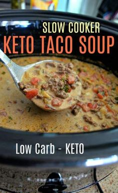 30 Low Carb Healthy Dinner Recipes For The Family - RecipeMagik Ketogenic Recipes, Low Carb Recipes, Cooking Recipes, Ketogenic Diet, Cooking Tips, Slow Cooker Keto Recipes, Cooking Steak, Healthy Crockpot Soup Recipes, Low Carb Slow Cooker
