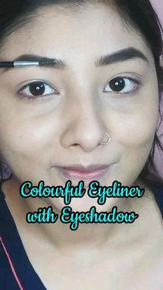 Blue Eyeshadow, Eyeshadow Looks, Eyeshadow Ideas, Simple Makeup, Natural Makeup, Hair Cutting Videos, Really Cool Stuff, Awesome Stuff, Eyeliner Tutorial