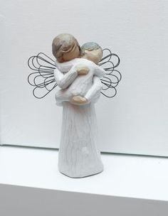 Godmother Gift for Baptism. Willow Tree figurines.