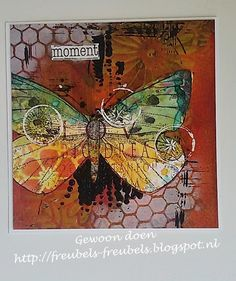 Gewoon doen: New Art Journey stamps - Mixed media butterfly
