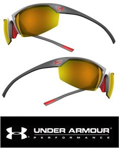 Under Armour UA Zone 2.0 Sunglasses Men Sport Carbon Frame Red Logo Orange  Lens  UnderArmour bc4c19dfe2