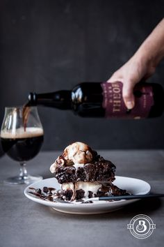 Ridiculous Chocolate Stout Brownie Sundaes (for two) This isn't for people who like order. For people who want everything neat, tidy and in its place. Not for people who can't enjoy a little chaos, or see beauty in a big mess. I am not that person. Which is probably a good, allowing me to survive…