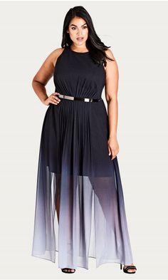 16d0c59f61b Ombre Maxi Statement Dress. Plus Size ...