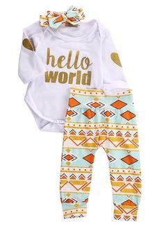 Amazon.com: Newborn Baby Girls Top Rompers+Floral Pants Leggings Headband 3pcs Outfits Set: Clothing  https://www.amazon.com/gp/product/B01LESVPNW/ref=as_li_qf_sp_asin_il_tl?ie=UTF8&tag=rockaclothsto_toys-20&camp=1789&creative=9325&linkCode=as2&creativeASIN=B01LESVPNW&linkId=7db9d4914369a28549fda5650581f4fe