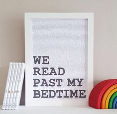 We Read Past My Bedtime - Bedtime Stories Print -  Literary Wall Decor -  Nursery Wall Art - Bedtime Story Print - Childrens Stories by StorytaleDecor on Etsy https://www.etsy.com/listing/506105347/we-read-past-my-bedtime-bedtime-stories