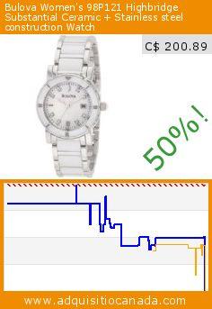 Bulova Women's 98P121 Highbridge Substantial Ceramic + Stainless steel construction Watch (Watch). Drop 50%! Current price C$ 200.89, the previous price was C$ 398.54. http://www.adquisitiocanada.com/bulova/bulova-womens-98p121
