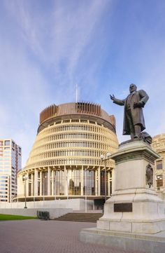 The Beehive (Parliament building) - Wellington, New Zealand As a student I sat in the PM's chair in this building.