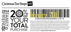 Coupons For Christmas Tree Shops