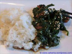 comp_CR_CIMG1792_Scharfer_Schweinebauch_mit_Spinat Palak Paneer, Grains, Rice, Ethnic Recipes, Food, Pork Belly, Spinach, Meal, Essen