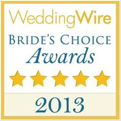 Thanks to our wonderful couples, we won a Wedding Wire Bride's Choice Awards for our fourth year in a row!