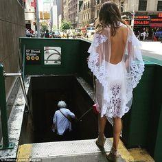 Rebecca Judd.. J'Aton Couture dress, with Aquazzura Amazon Wedge Espadrilles..