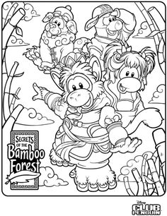 club penguin coloring pages of puffles | club penguin | pinterest ... - Club Penguin Coloring Pages Ninja