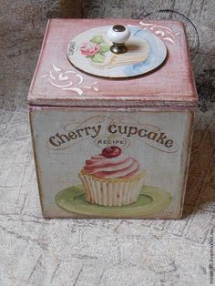 Decoupage Jars, Decoupage Vintage, Wood Creations, Vintage Box, Coffee Set, Shabby Chic Style, Wooden Boxes, Craft Projects, Birthday Gifts