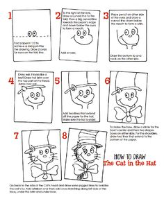How to draw the Cat in the Hat: free drawing guide from Deep Space Sparkle