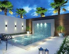 35 Trending Small Pool Designs for Your Backyard - piscine Small Swimming Pools, Small Pools, Swimming Pools Backyard, Swimming Pool Designs, Swimming Pool Lights, Backyard Pool Landscaping, Backyard Pool Designs, Small Backyard Pools, Landscaping Ideas