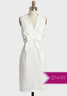 Jacqueline Marie Bow Dress at Ruche :::Classic Dresses For Sale, Cute Dresses, Vintage Dresses, Dresses For Work, Formal Dresses, Wedding Dresses Under 100, Bridal Dresses, Reception Dresses, Courthouse Wedding Dress