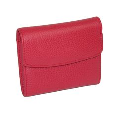 Leather mini tri-fold wallet by Buxton. You'll have plenty of room for all of the essentials, credit cards, ID, currency, coins and receipts