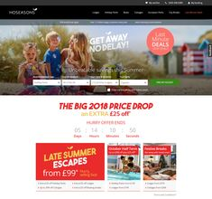 Countdown Timer on the Home Page of  the Hoseasons website #Web #Website #HomePage #Personalization #CountdownTimer #Travel #Holiday