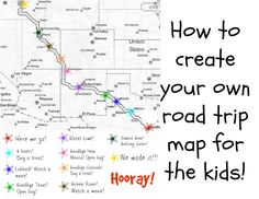 Just a Touch of Crazy: How to create your own road trip map