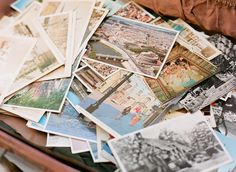 postcard guestbook for a travel theme / photo by ktcrabbphotography.com