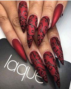 15 Stiletto Nail Designs zum Ausprobieren I know what you think, stiletto nails are a little too crazy sometimes and out there. But if you're the type to have those long, sharp nails … Fabulous Nails, Gorgeous Nails, Pretty Nails, Amazing Nails, Acrylic Nail Designs, Nail Art Designs, Nails Design, Acrylic Nails, Pedicure Designs