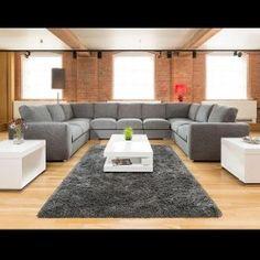 Extra Large Cinema Sofa Set Settee Corner Group U Shape Grey 4.0x2.6m