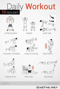 "No equipment easy workout (for the record I did not put the ""easy"" into the description)"