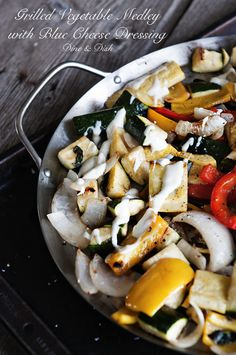 Grilled Vegetable Medley with Blue Cheese Dressing @Kristen @Kristen @DineandDish