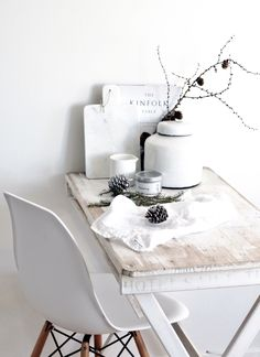 Christmas table By @whitelivingetc