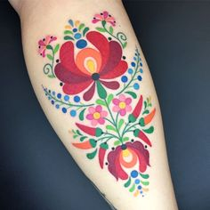 Image result for tattooed person embroidery