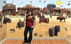 Western Scene Setter, Cowboy Scene, Western Scene | shopswell