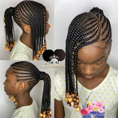 Two Fun and Beautiful Braided Hairstyles – HerHairdos Black Girl Braid Styles, Kid Braid Styles, Black Girl Braids, Braids For Black Hair, Lil Girl Hairstyles, Black Kids Hairstyles, Kids Braided Hairstyles, African Braids Hairstyles, American Hairstyles
