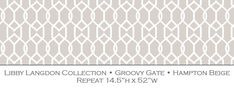 Libby Langdon Collection - Wallcoverings - Groovy Gate Designer Wallpaper, Wallpaper Designs, Inspirational Wallpapers, Fashion Room, Design Firms, Peel And Stick Wallpaper, The Hamptons, Home Furnishings, Diy Crafts